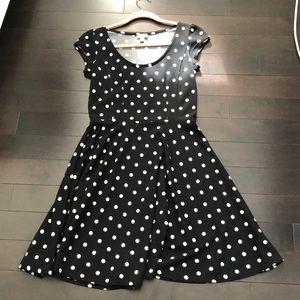 Polka Dot 🖤 A Line Dress